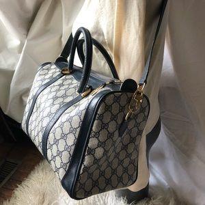 Vintage Gucci Dr's Bag Coated Canvas GG monogram!!